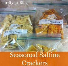 Thrifty 31 Blog: Seasoned Saltine Crackers - These are great, but next time I'll try oyster crackers.