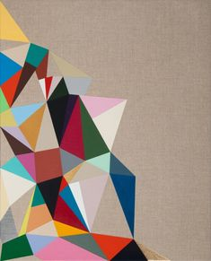 """Crazy Quilt 21""x17"" acrylic on linen --very lovely design :) loving the geometric shapes"""