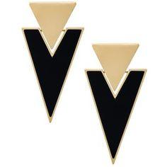 Saint Laurent triangle clip-on earrings