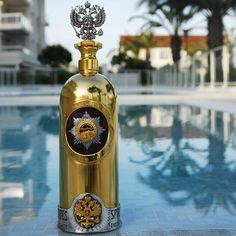 If you're a Vodka aficionado, you're probably wondering what's the world's most expensive vodka bottles of all time. Learn about the most expensive vodkas. Alcohol Bottles, Liquor Bottles, Vodka Bottle, Whiskey Bottle, Expensive Vodka, Most Expensive Liquor, High End Vodka, Cool Packaging, Scotch Whiskey