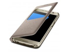Coque Etui Samsung Galaxy S7 Flip Folio - Window View - Or - 8,90 €