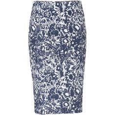 SUNO Jacquard Pencil Skirt ($575) ❤ liked on Polyvore