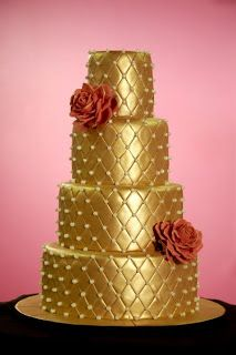 Wedding Cakes Pictures: Gold Wedding Cakes