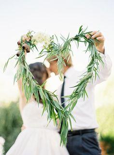 Newlyweds With a Greenery Heart | Jen Huang Photography on @polkadotbride via @aislesociety