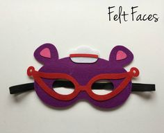 SET OF 5 Doc McStuffins Party Mask Doc McStuffins by KSFeltFaces