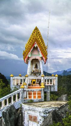 Definitely worth the climb: The Tiger Cave Temple in Krabi, Thailand.