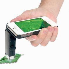 [XmasSale]60-100x zoom microscoop vergrootglas lens van de camera met LED-licht voor de iPhone / Samsung en andere mobiele telefoon - EUR € 11.51