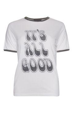 White Its All Good Ringer T-Shirt