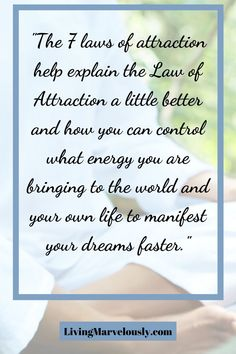 Learn about the 7 laws of attraction to understand the Universal Law of Attraction better and manifest your desires faster. How To Manifest, Positive Mindset, Law Of Attraction, Affirmations, Bring It On, Positivity, Writing, Motivation, Learning