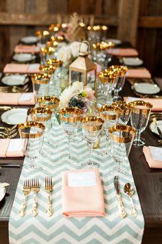 Mint and coral wedding. Menta e coral decoração casamento. #wedding #mint #coral #decoration #casamento #decoraçãomenta
