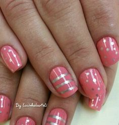 Stripped nails art.