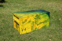 Artistiek, uniek door kunstenaar beschilderd kistje 0.46x0.22x0.22..Is te koop. Voor info: mp_marian@hotmail.com