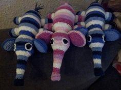 Hæklede baby elefanter