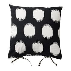 IKEA - SOMMAR 2017, Cushion cover, , You can easily vary the look, because the two sides have different designs.The ties make the cover easy to remove.