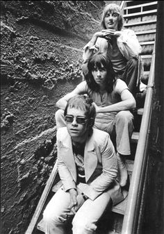 Elton John with Dee Muray and Nigel Olsson - 1970