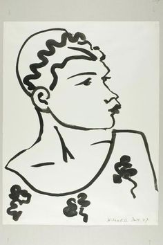 Henri Matisse - Head, June 1947, Brush and black ink on ivory wove paper, 528 x 405 mm | The Art Institute of Chicago