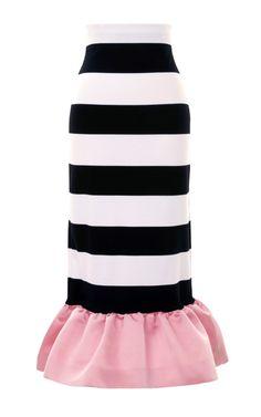 Kymi Stripe Jersey Peplum Skirt by Mother of Pearl