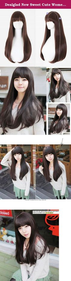 Dealglad New Sweet Cute Women's Girls Pear Head Long Curly Full Wig Cosplay Fancy Dress Party Hair Wigs Black Brown. Details: Brand New & Good Quality. This shiny glam wig is soft to the touch and looks silky and sexy. The long hair hangs down well past the shoulders. Simple and comfortable to wear without damaging your own hair. It is both natural looking and soft touch, looks similar to true-to-life human hair This cosplay wig with fashionable & stylish designed gives you a beautiful &...