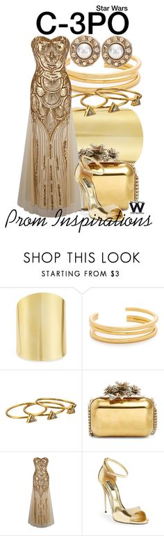 """""""Star Wars - Prom Inspirations"""" by wearwhatyouwatch ❤ liked on Polyvore featuring Lydell NYC, Madewell, Gorjana, Jimmy Choo, Dolce&Gabbana, Oscar de la Renta, Prom, wearwhatyouwatch, film and starwars"""