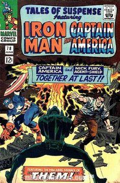 Tales of Suspense 78 - Captain America - Fight - Marvel - Marvel Comics - Ironman - Jack Kirby