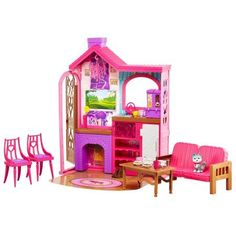 Barbie Camping Fun Playset with Barbie Cabin 7b4d5bde3a7b