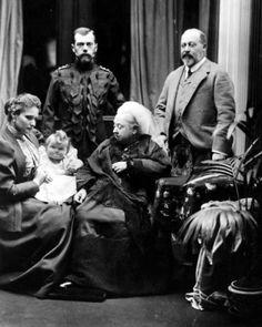 New-8x10-Photo-Queen-Victoria-with-Future-King-Edward-VII-Tsar-Nicholas-II