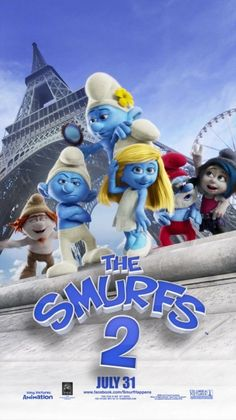 The Smurfs 2 Movie Poster The Smurfs 2, Old School Cartoons, English Games, Smurfette, Movies To Watch Free, Movie Collection, Top Movies, Beautiful Birds, Wonderful Images