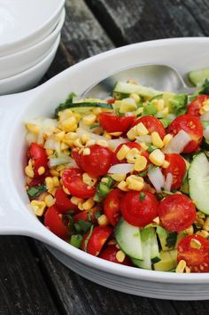 """Raw Corn Salad 