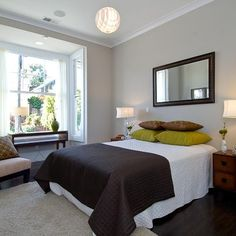 Restoration Hardware Slate Paint collection Graphite Noe Valley Three - contemporary - bedroom - san francisco - Amoroso Design