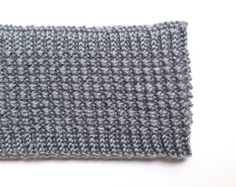 Gray Winter Knitted Headband | Soft gray winter knitted headband with textured seed stitch pattern. Wool, cashmere, and silk. From my Etsy shop Elaine's Collection. | Winter Gifts | Hand Knitted | Headbands | Winter Fashion | Women's Accessories |