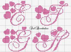 Crochet Alphabet, Crochet Letters, Cross Stitch Alphabet Patterns, Alphabet Art, Monogram Alphabet, Christmas Embroidery Patterns, Diy Embroidery, Cross Stitch Embroidery, Halloween Cross Stitches