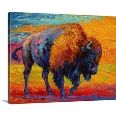 Found it at AllModern - 'Spirit of a Prairie Bison' by Marion Rose Painting…