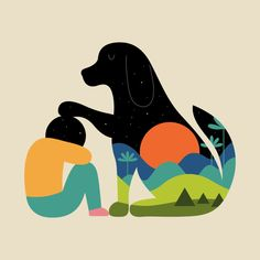 Art-Poster 50 x 70 cm - The best is yet to come - Andy Westface - Dog Animal - Baby room Illustration. Art-Poster and prints published by Wall Editions. Illustrations, Illustration Art, Framed Art Prints, Canvas Prints, Kunst Poster, The Best Is Yet To Come, Grafik Design, Dog Art, My Arts
