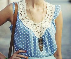 Sweet lace and polkadots. ♡