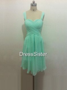 Short Mint Bridesmaid Dress  Mint Bridesmaid by DressSister