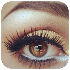 Pretty makeup for brown eyes.