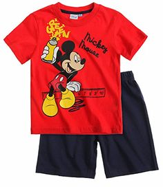 Boys Mickey Mouse Pyjamas Kids Disney Pjs T Shirt Short Set New 3 4 6 8 Years -- Click image to review more details.