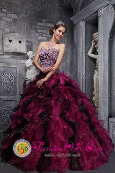 Leopord and Deaded Decorate Wholesale Bodice Ruffles Wild Fushsia Quinceanera Dress Custom Made for Quinceanera In Fuerte Olimpo Paraguay Style ZYLJ01FOR