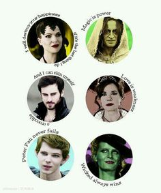 All once villains. (EXCEPT CAPTAIN HOOK NEVER WAS HE WAS JUST A SALOIR WHO LOST HIS BROTHER DANGIT)