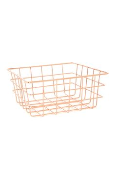 On top bin in cart this thingy has hair stuff in it Rose Gold Room Decor, Rose Gold Rooms, Gold Bedroom Decor, Guest Room Decor, Rose Gold Basket, Primark Home, Navy And Copper, Diy Zimmer, Locker Decorations