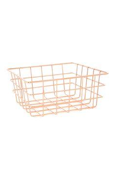 Magazine storage. Rose Gold Basket