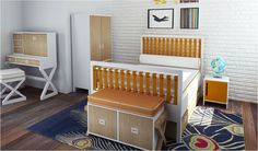 The Campaign Youth Bed features Eco-friendly faux leather accent straps. This modern bed is offered in twin and full sizes Cool Boys Room, Boy Room, Kids Room, Modern Childrens Furniture, Headboard And Footboard, California Homes, My New Room, Bellisima, Home Appliances