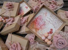 Wedding Favors, Wedding Ideas, Christening, Burlap, Decorative Boxes, Scrapbooking, Diy, Vintage, Design