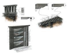 Chalet 3 Sketching, Villa, Interior, Spaces, Indoor, Interiors, Sketch, Fork, Villas