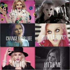 Perrie in LM's videos