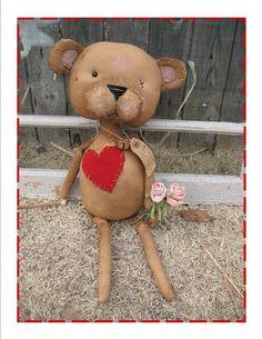 Prim Old Valentine Teddy  -