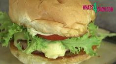 Smashed Chicken Cheese Burger - The Chicken Version of the Shake Shack &...