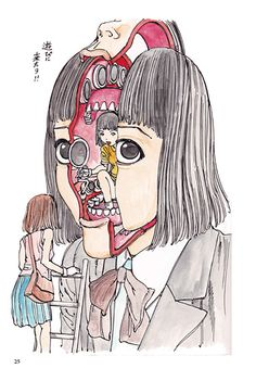 Shintaro Kago - A lot of sweets are jammed in the head of the girl (SIGNED) | Lesley Ann