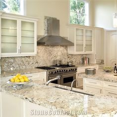 Alaska White Granite Kithen Countertops from China, the Details Include Pictures,Sizes,Color,Material and Origin.Price:198*63.5*2 $105/Square Meters, 244*63.5*2 $105/Square Meters. You Can Contact the Supplier - Fujian Perfect Stone Co.,Ltd..