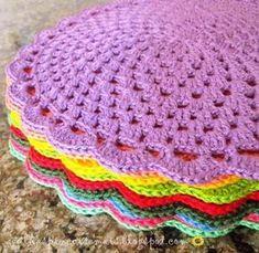 Delicadezas en crochet Gabriela: Individuales para la cocina en ganchillo